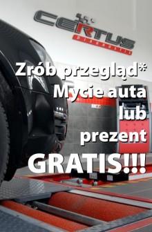 Zrób przegląd, mycie auta lub prezent gratis!!!